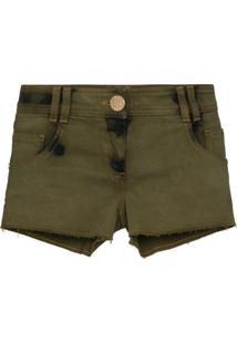 Balmain Short Jeans Destroyed - Verde
