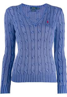 Polo Ralph Lauren Suéter Com Logo Bordado - Azul