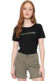 Blusa Calvin Klein Jeans Lettering Preta
