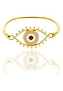 Pulseira Olho Grego Banhada A Ouro 18K Pulseiraria Chic