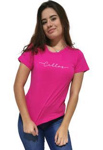Camiseta Feminina Cellos Stretched Premium Rosa