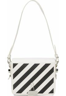 Off-White Bolsa Com Listras Diagonais - Branco