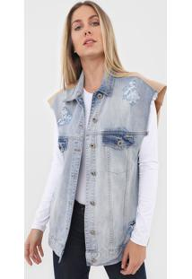 Colete Jeans Colcci Destroyed Azul - Kanui