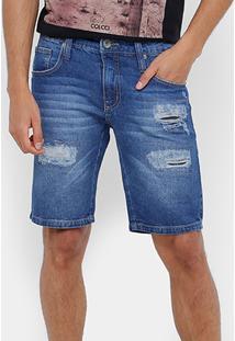 Bermuda Jeans Colcci Stone Indigo Masculina - Masculino