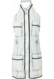 Andrea Bogosian Vestido Jeans Curto Sape - Azul