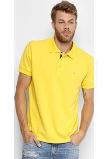 Camisa Polo Gangster Piquet Com Elastano Masculina - Masculino-Amarelo
