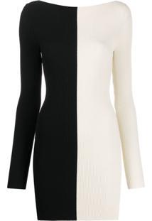 Ssheena Vestido Bicolor - Branco