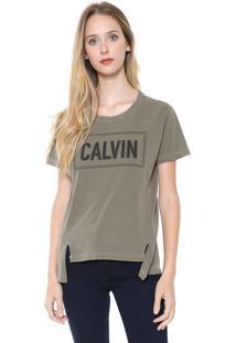 Camiseta Calvin Klein Jeans Recortes Verde