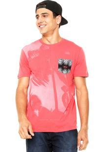 Camiseta Globe Coqueiro Tee Coral