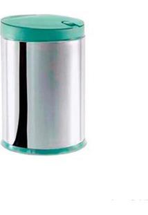 Lixeira De Inox Com Tampa E Pedal 4 Litros Press Menta Brinox