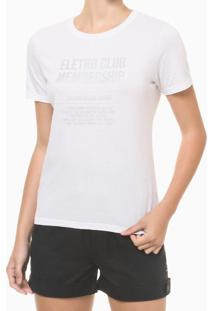 Blusa Feminina Slim Estampa Electro Club Branca Calvin Klein Jeans - Pp