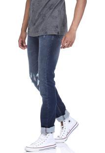 Calça Jeans King&Joe Destroyed Azul
