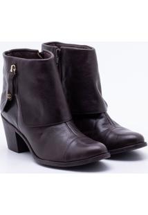 Ankle Boot Comfy Couro Mocha