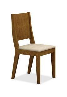 Cadeira New York Sala De Jantar, Padrao - Imbuia, Revestimento - Veludo Creme