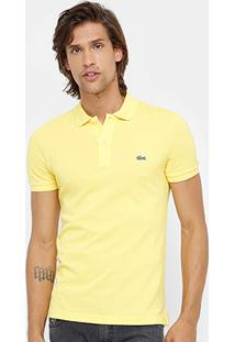 Camisa Polo Lacoste Piquet Slim Fit Masculina - Masculino