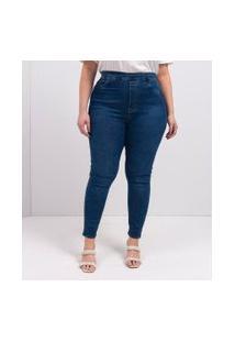 Calça Jegging Jeans Curve & Plus Size   Ashua Curve E Plus Size   Azul   46