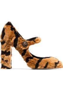 ec997c8819 ... Dolce   Gabbana Sapato Mary Jane De Couro - Marrom
