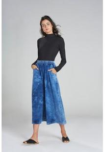 Calça Yogini Pantacourt Amsterdã Feminina - Feminino-Azul
