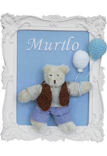 Quadro Enfete Maternidade Urso Ursinho Bexigas Menino Bebê Potinho De Mel