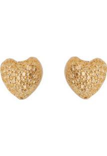 Par De Brincos Banhado A Ouro Coraã§Ã£O- Dourado- 0,5Xcarolina Alcaide
