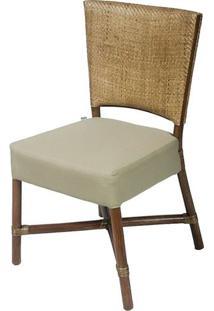Cadeira Flint Assento Cor Fendi Com Base Madeira Apui - 44722 Sun House