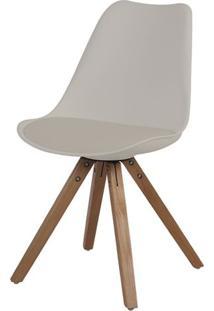 Cadeira Ligia Eames Polipropileno Nude Base Madeira - 53292 - Sun House