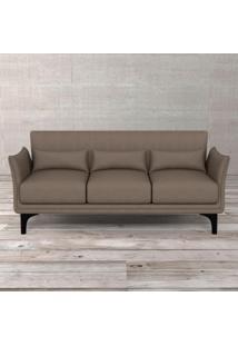 Sofa 3 Lugares Kevin Trama 174X79X81H Cinza Escuro Etna