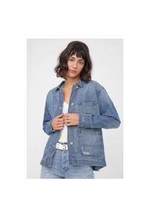 Jaqueta Jeans Gap Bolsos Azul