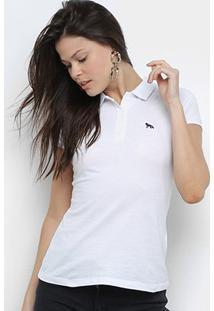 Camisa Polo Acostamento Feminina - Feminino-Branco