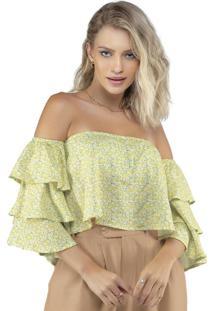 Blusa Ombro A Ombro Floral Fresh Estampado