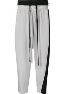 Nahmias Contrast Drawstring Trousers - Cinza