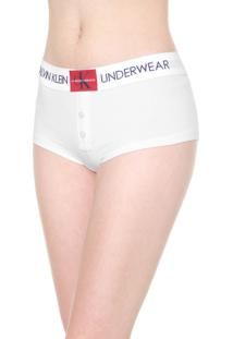 Calcinha Calvin Klein Underwear Caleçon Logo Branca
