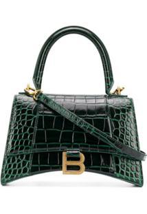 Balenciaga Bolsa De Mão Hourglass Pequena - Verde