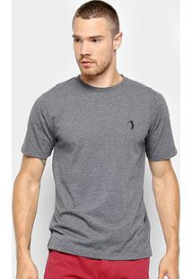 Camiseta Aleatory Básica Masculina - Masculino-Mescla