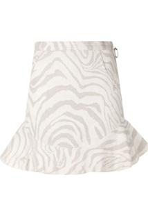 Atu Body Couture High Waisted Mini Skirt - Neutro