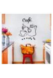 Adesivo Decorativo Para Cozinha Hora Do Café - Extra Grande