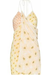 Jacquemus Vestido Mini La Robe Boca - Amarelo