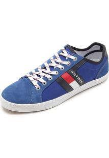 Sapatênis Tommy Hilfiger Recortes Azul