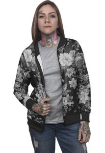 Jaqueta Bomber Chess Clothing Floral - Kanui