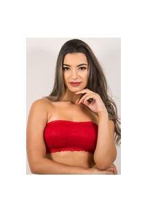 Sutiá Bella Fiore Modas Tomara Que Caia Top Renda Vermelho