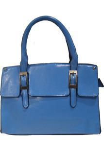 Bolsa Real Arte Detalhe Fivela Azul Claro - Kanui
