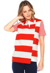 a749b63515a1f Camisa Pólo Listras Ombro feminina   Shoelover