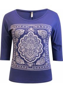 Blusa Pau A Pique 34 Silk - Feminino-Azul Royal