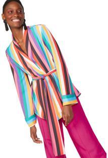 Kimono Alfaiataria Manga Longa