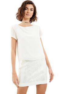 Camiseta John John Glen Off White Feminina (Off White, P)