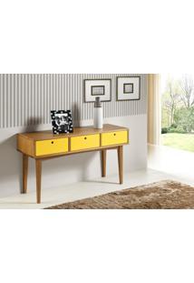 Aparador Vintage Acab. Amendoa Laca Amarelo - 17122 - Sun House