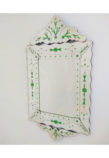 Espelho Veneziano Decorativo, Sala, Luiz Xv Plus Verde 63X119