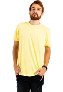 Camiseta Aes 1975 Básica Masculina - Masculino-Amarelo