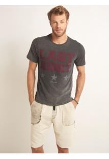 Camiseta John John Rg Last Night Malha Cinza Masculina Tshirt Rg Last Night-Chumbo-P