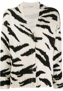 Philosophy Di Lorenzo Serafini Animal Pattern Wool Cardigan - Branco